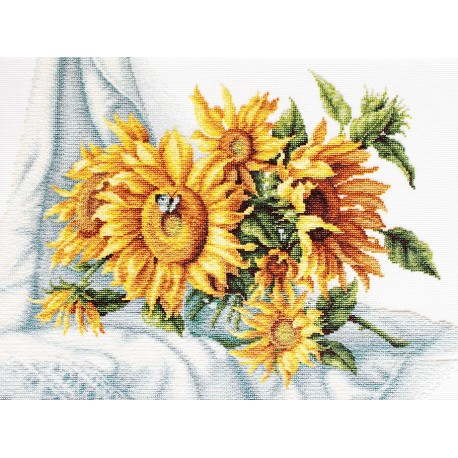 click here to view larger image of Sunflowers (counted cross stitch kit)