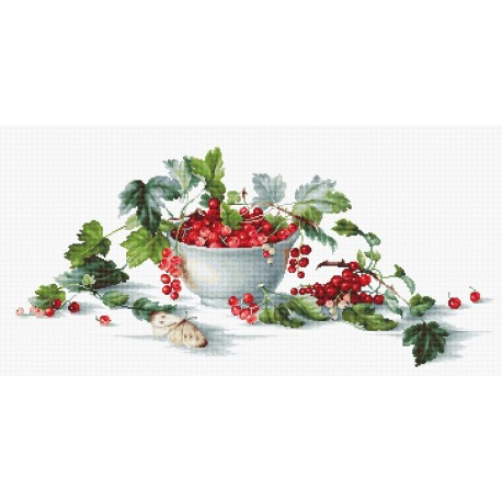 click here to view larger image of Red Currants (counted cross stitch kit)