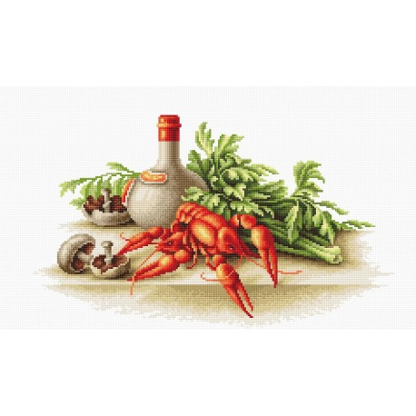 click here to view larger image of Still Life with Crayfish (counted cross stitch kit)