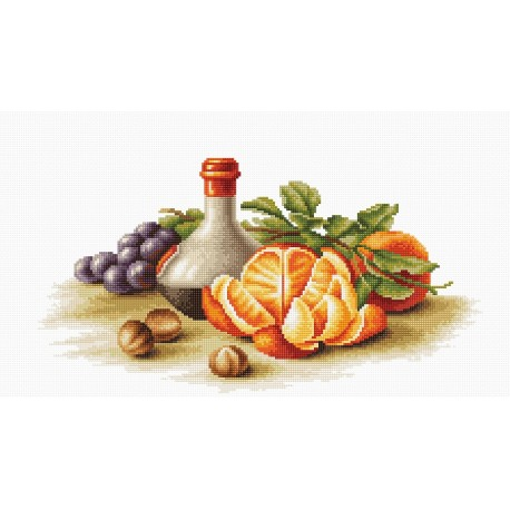 click here to view larger image of Still Life with Oranges (counted cross stitch kit)