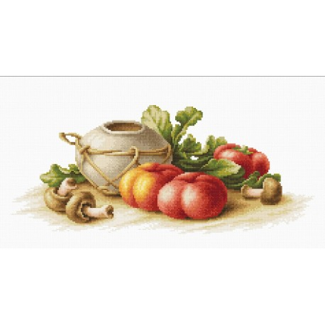 click here to view larger image of Still Life with Vegetables (counted cross stitch kit)