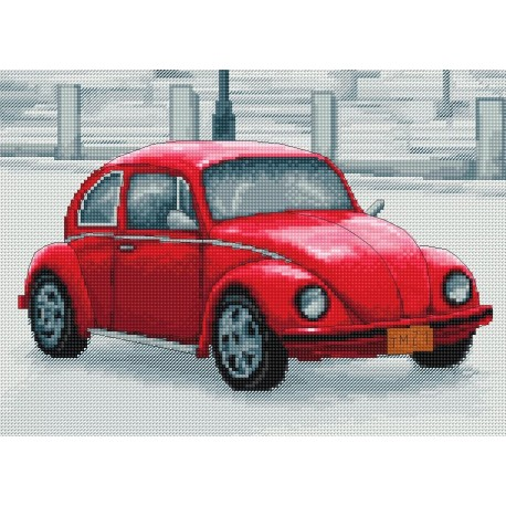 click here to view larger image of Retro Cars (counted cross stitch kit)