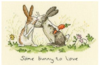 click here to view larger image of Some Bunny To Love (Anita Jerman) (counted cross stitch kit)