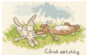 click here to view larger image of Cloud Watching (Anita Jerman) (counted cross stitch kit)