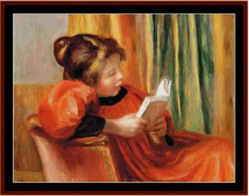 click here to view larger image of Girl Reading (Renoir) (chart)