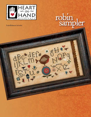 click here to view larger image of Robin Sampler (w/embellishments) (chart)