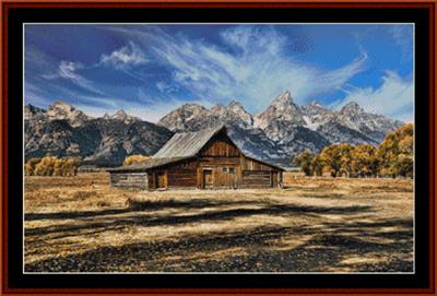 click here to view larger image of Mormon Barn  (chart)