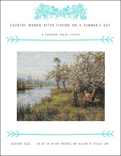 click here to view larger image of Country Women after Fishing on a Summers Day (chart)
