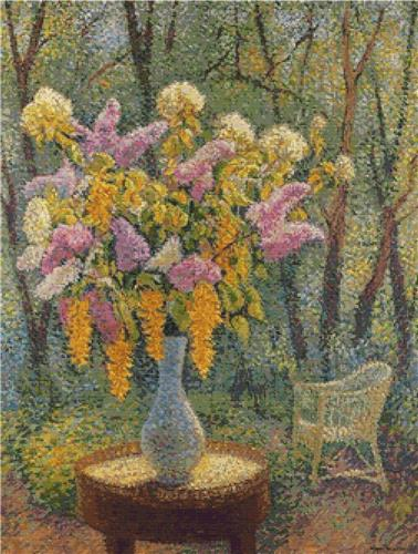 click here to view larger image of Vase of Flowers in a Garden (chart)