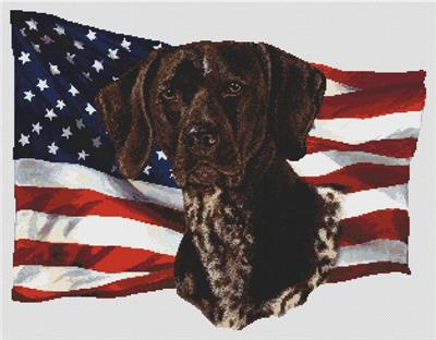 click here to view larger image of Patriotic German Shorthair Pointer (chart)