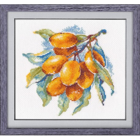 click here to view larger image of Amber Berry (counted cross stitch kit)