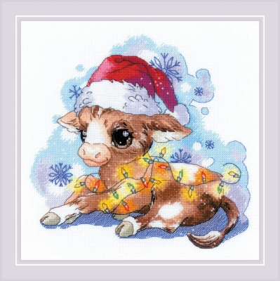 click here to view larger image of New Years Calf (counted cross stitch kit)