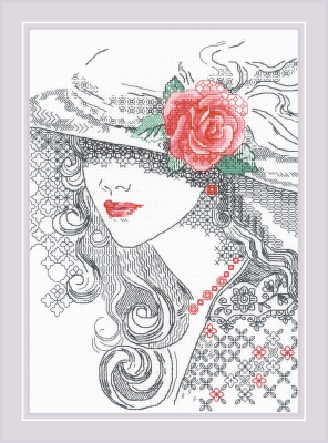 click here to view larger image of Mysterious Rose (counted cross stitch kit)