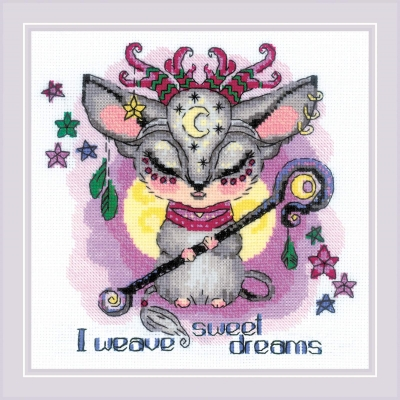 click here to view larger image of Good Souls - Moon (counted cross stitch kit)
