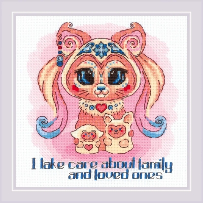 click here to view larger image of Good Souls - Beauty (counted cross stitch kit)