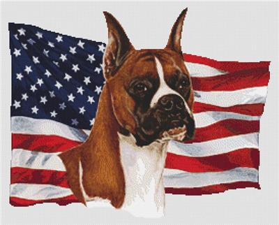 click here to view larger image of Patriotic Boxer Cropped Ears (chart)