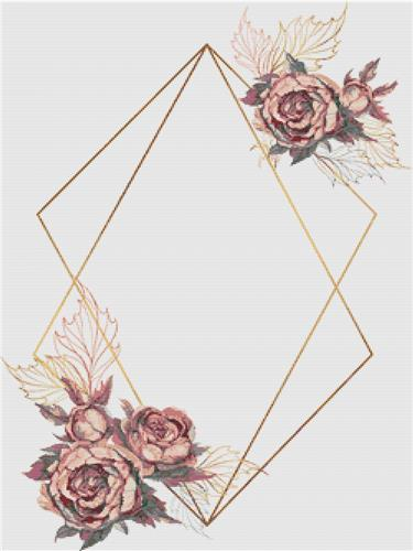 click here to view larger image of Geometric Flower Frame (chart)