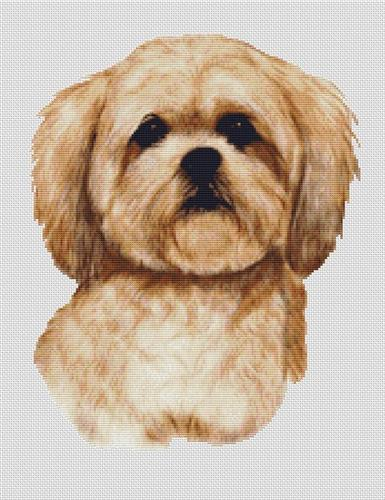 click here to view larger image of Cream Lhasa Apso (chart)