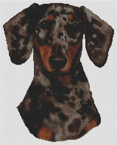 click here to view larger image of Black Dappled Dachshund (chart)