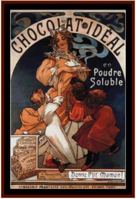 click here to view larger image of Chocolate Ideal 1897 - Mucha (chart)
