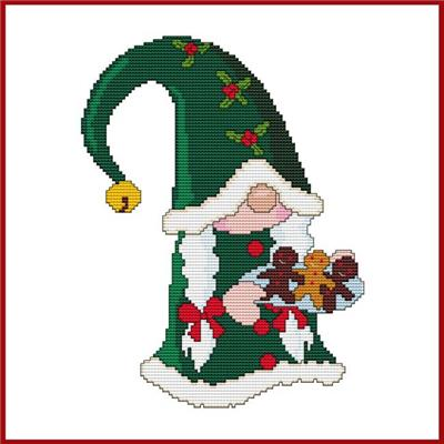 click here to view larger image of Ms Christmas Cookie Gnome (chart)