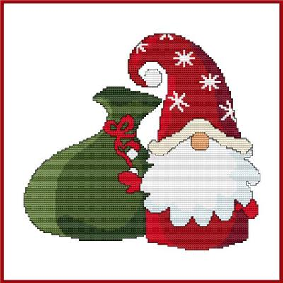 click here to view larger image of Santa Gnome w/Gift Sack (chart)