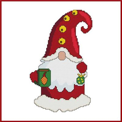 click here to view larger image of Santa Gnome with Mug (chart)