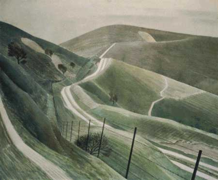 click here to view larger image of Chalk Paths - Eric Ravilious (chart)