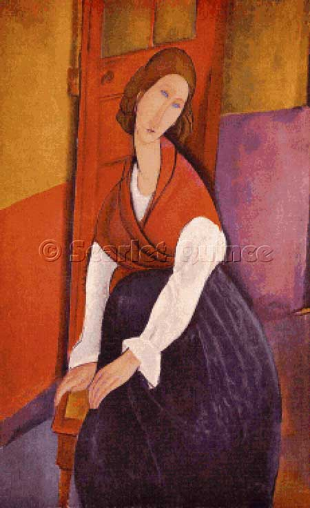 click here to view larger image of Jeanne Hebuterne in a Red Shawl - Amadeo Modigliani (chart)