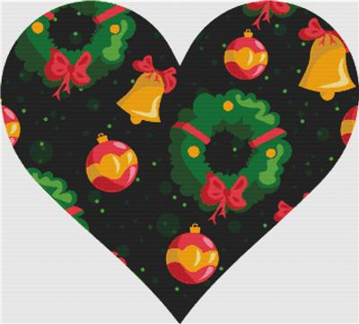 click here to view larger image of Christmas Wreath Heart (chart)