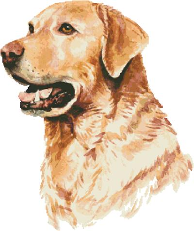 click here to view larger image of Labrador Retriever in Watercolor (chart)