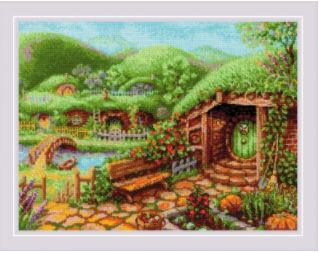 click here to view larger image of Green Hills (counted cross stitch kit)