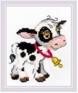 click here to view larger image of Calf with a Bell (counted cross stitch kit)