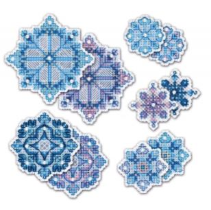 click here to view larger image of Snowflake Ornaments (counted cross stitch kit)