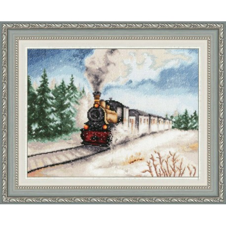 click here to view larger image of Winter Express (counted cross stitch kit)