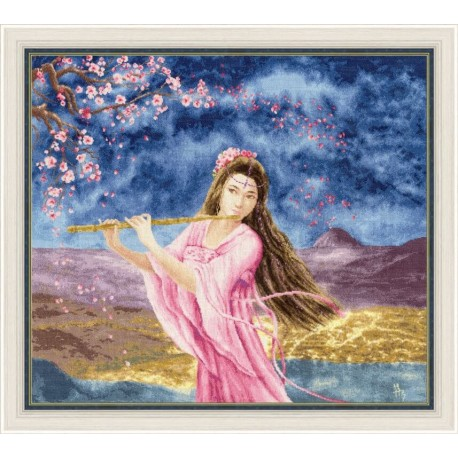 click here to view larger image of Girl with a Flute (counted cross stitch kit)