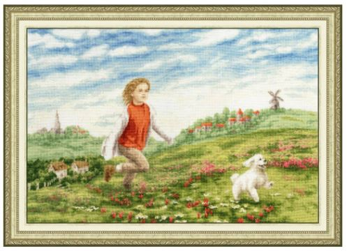 click here to view larger image of Happy Summer (counted cross stitch kit)