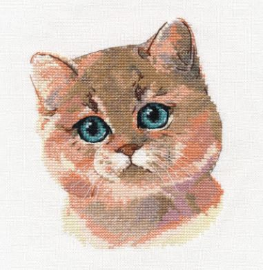 click here to view larger image of British Shorthair (counted cross stitch kit)