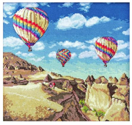 click here to view larger image of Balloons Over Grand Canyon (counted cross stitch kit)