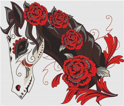 click here to view larger image of Day of the Dead Horse (chart)