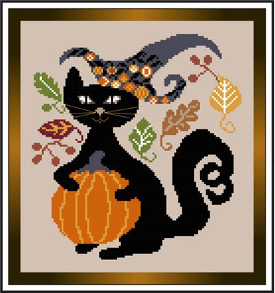 click here to view larger image of Fall Black Cat (chart)