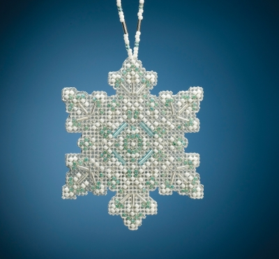 click here to view larger image of Aqua Mist Snowflake (2020) (bead kit)