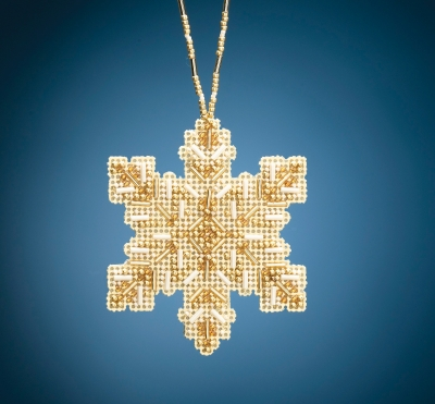 click here to view larger image of Golden Snowflake (2020) (bead kit)
