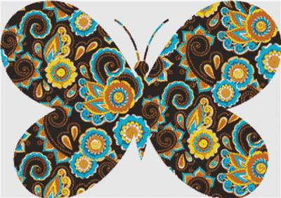 click here to view larger image of Brown Paisley Butterfly (chart)