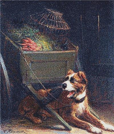 click here to view larger image of Dog Cart with Vegetables, A (chart)