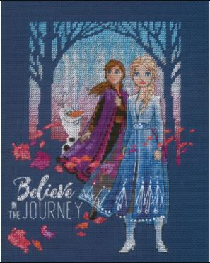 click here to view larger image of Believe in the Journey (counted cross stitch kit)