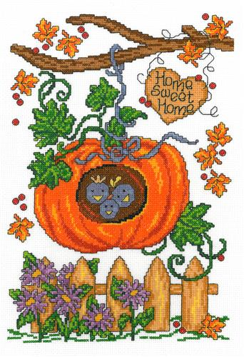 click here to view larger image of Autumn Birdhouse - Ursula Michael (counted cross stitch kit)