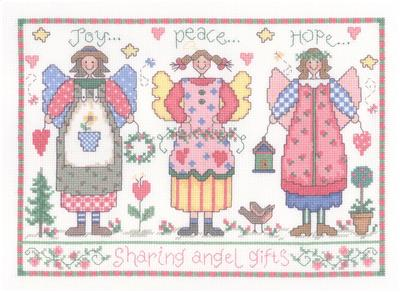 click here to view larger image of Angel Gifts - Gail Bussi (counted cross stitch kit)