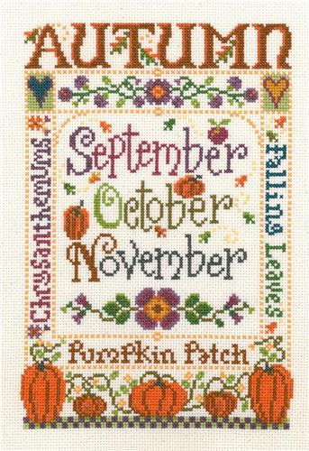 click here to view larger image of Autumn Season - Sandra Cozzolino (counted cross stitch kit)