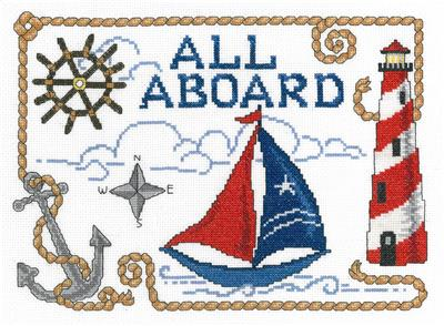 click here to view larger image of All Aboard - Ursula Michael (counted cross stitch kit)